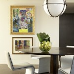 Boyd Lighting for Modern Dining Room with Centerpiece