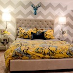 Brakes Plus Denver for Contemporary Bedroom with Chevron Pattern