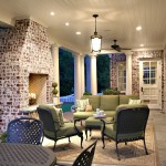 Brick Fireplace Makeover for Traditional Porch with Outdoor Fireplace