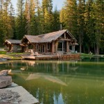 Bridger Steel for Rustic Exterior with Pine Trees