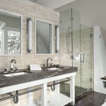 Brizo for Contemporary Bathroom with Built in Cubby