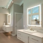Brizo for Contemporary Bathroom with White Ceiling Beams