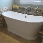 Brizo for Traditional Bathroom with Mosaic Tiles