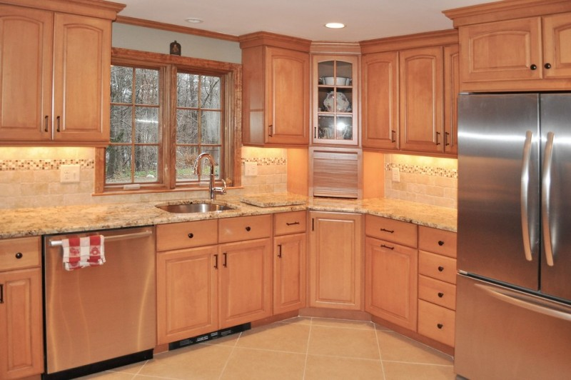 Brookside Lumber for Traditional Kitchen with Omega Dynasty Cabinets
