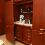 Builders Appliance Center for Contemporary Kitchen with Custom Built in Dark Wood Cabinets