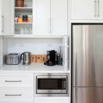 Builders Appliance Center for Modern Kitchen with Recessed Centre Panel Lacquer