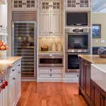 Builders Appliance Center for Traditional Kitchen with White Wood