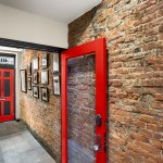 Builders Warehouse Okc for Contemporary Hall with Exposed Brick
