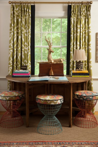Bullard Furniture for Traditional Home Office with Window Treatments