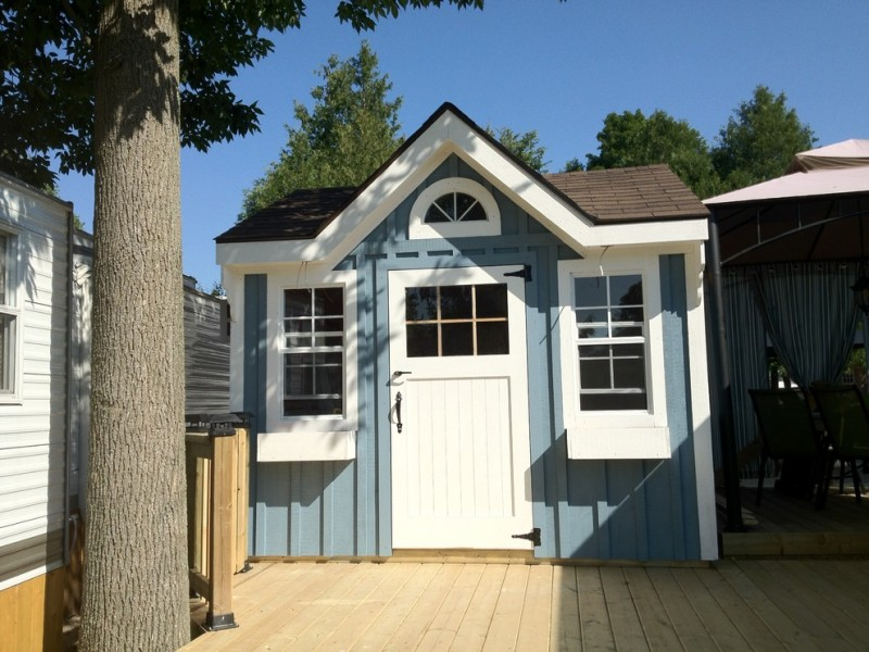 Bunkie for Traditional Shed with Mini Cottage