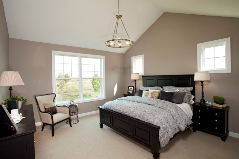 Burnsville Theater for Traditional Bedroom with Black Table Lamp