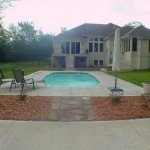 Buster Crabbe Pools for Traditional Pool with Mulch