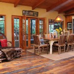 Buttercup Furniture for Rustic Dining Room with Rustic Wood Floor