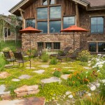 Buttercup Furniture for Rustic Patio with Outdoor Living Space