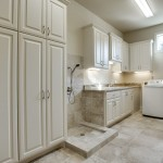 Cabin John Md for Mediterranean Laundry Room with Double Entry Doors