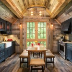 Cabin John Md for Rustic Kitchen with Exposed Wooden Beams