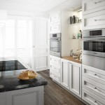 Cabinet Knob Placement for Contemporary Kitchen with Contemporary