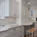Cabinet Knob Placement for Traditional Kitchen with White Kitchen