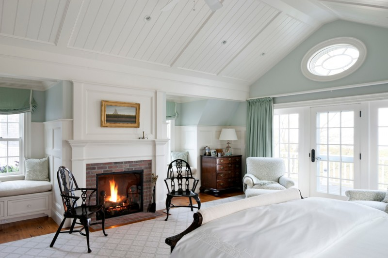 Cabriole for Beach Style Bedroom with Coastal Colors
