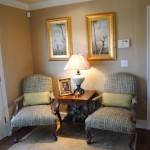 Cabriole for Traditional Family Room with Plaid