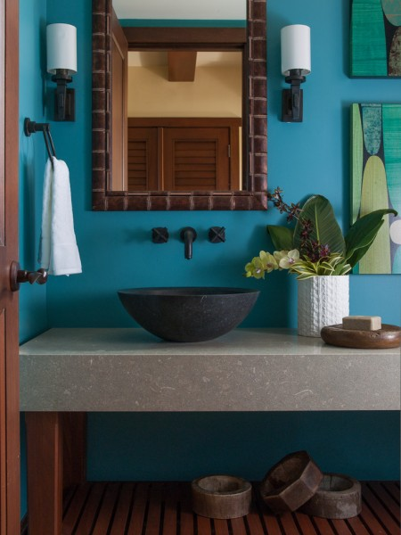 Caesarstone Colors for Tropical Bathroom with Vanity