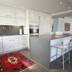 Caesarstone for Eclectic Kitchen with Kitchen Island