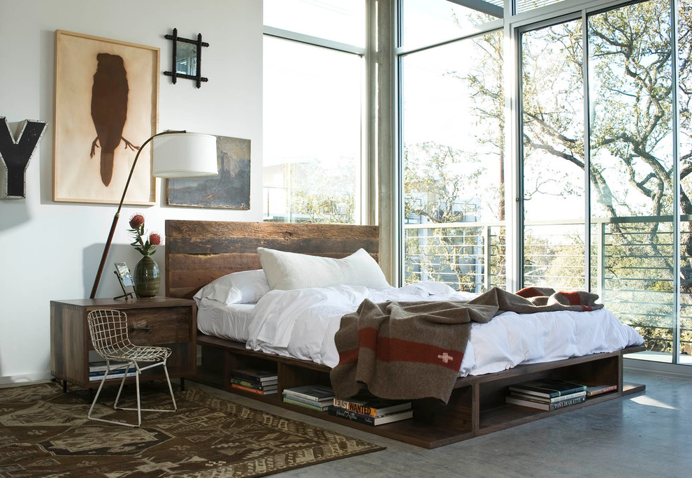 Cal King Bed Dimensions for Industrial Bedroom with Storage Under Bed