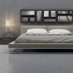 Cal King Dimensions for Contemporary Bedroom with Modern Bed