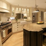 Cambria Countertops for Traditional Kitchen with Farmhouse Sink