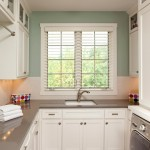 Cambria Countertops for Traditional Laundry Room with Gray Floor