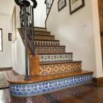 Cancos Tile for Mediterranean Staircase with Stairs