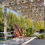 Canopy Houston for Contemporary Patio with Sculpture