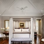 Canopy Houston for Farmhouse Bedroom with Ceiling Fan