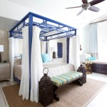 Canopy Houston for Mediterranean Bedroom with Ceiling Fan