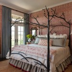 Canopy Houston for Traditional Bedroom with Antique Hand Carved Chair