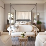 Canopy Houston for Traditional Bedroom with Slipcovered Chairs