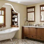 Canyon Creek Cabinets for Craftsman Bathroom with Built in Shelves