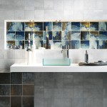 Capco Tile for Contemporary Bathroom with Frosted Glass Vessel Sink