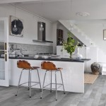 Capco Tile for Eclectic Kitchen with White Stairs