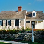 Cape Cod Lumber for Traditional Exterior with Lamppost