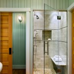 Cardinal Shower Doors for Beach Style Bathroom with Sconce
