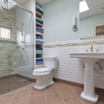 Cardinal Shower Doors for Traditional Bathroom with White Subway Tile