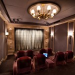 Carlisle Movie Theater for Traditional Home Theater with Gold
