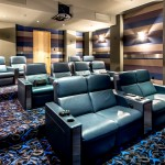 Carpet Tech Lubbock for Contemporary Home Theater with Cinema Seating