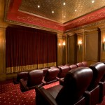 Carpet Tech Lubbock for Mediterranean Home Theater with Wall Sconces