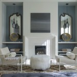 Cb2 Locations for Transitional Living Room with Wall Mirrors