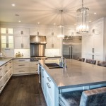 Ceasarstone for Contemporary Kitchen with Microwave and Wall Oven