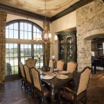 Centerville Mn for Traditional Dining Room with Stone Wall