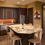 Ceramic Tileworks for Contemporary Kitchen with Granite