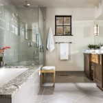 Ceramic Tileworks for Rustic Bathroom with Contemporary Rustic